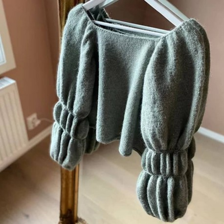 Bubble Sleeve Pullover Rilleruth
