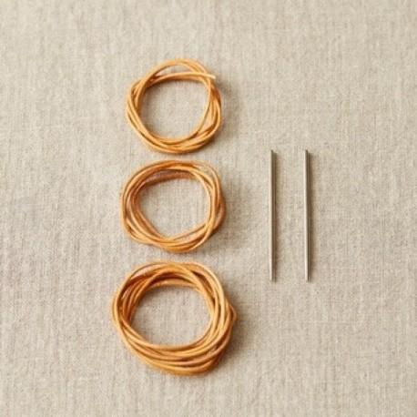 Cocoknit Maschenhalter Lederband mit Nadel Set